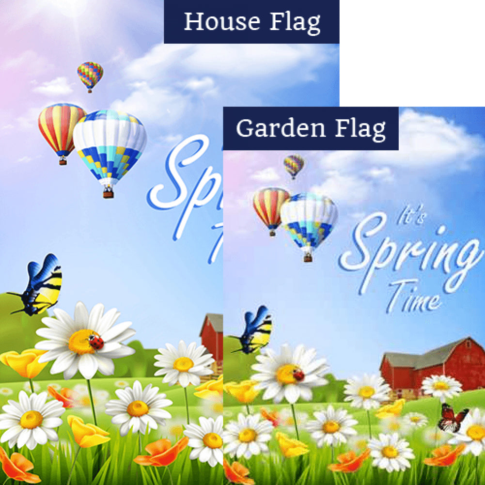 It's Spring Time at the Farm Flags Set (2 Pieces)