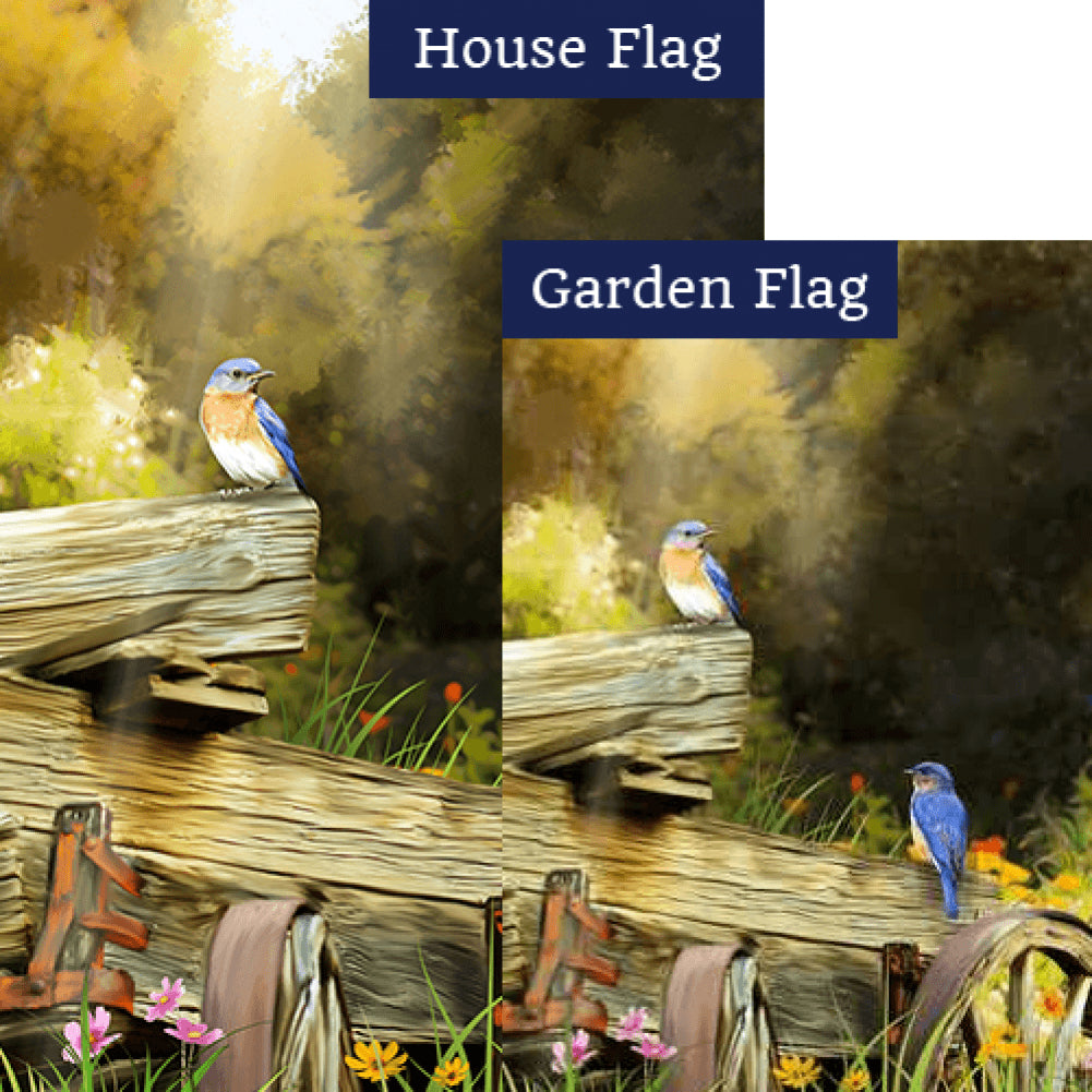 Spring in the Woods Flags Set (2 Pieces)