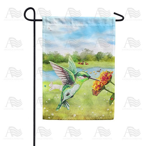 Spring is Here Hummingbird Double Sided Garden Flag