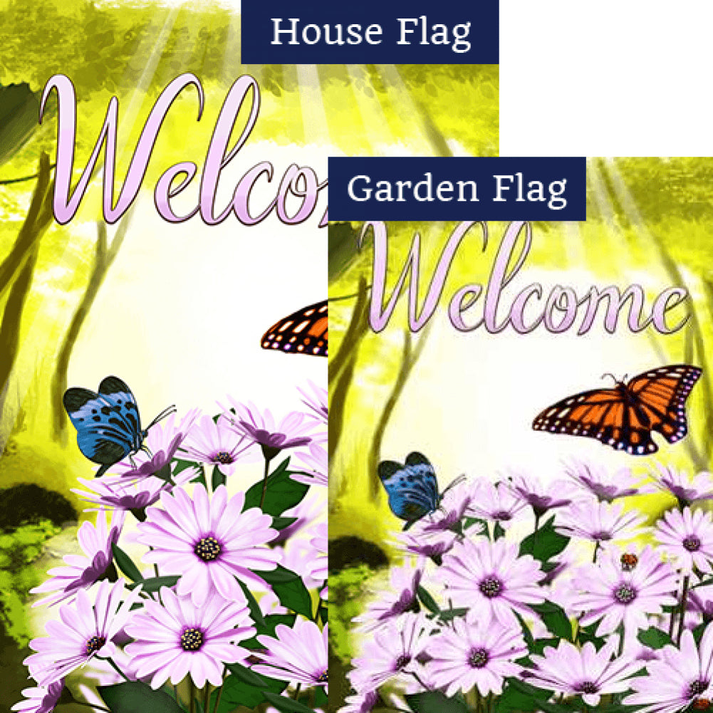 Daisies in the Woods Flags Set (2 Pieces)