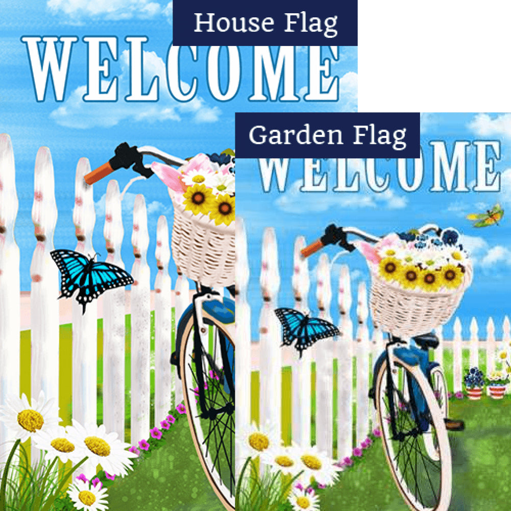 Basket Full of Flowers Flags Set (2 Pieces)
