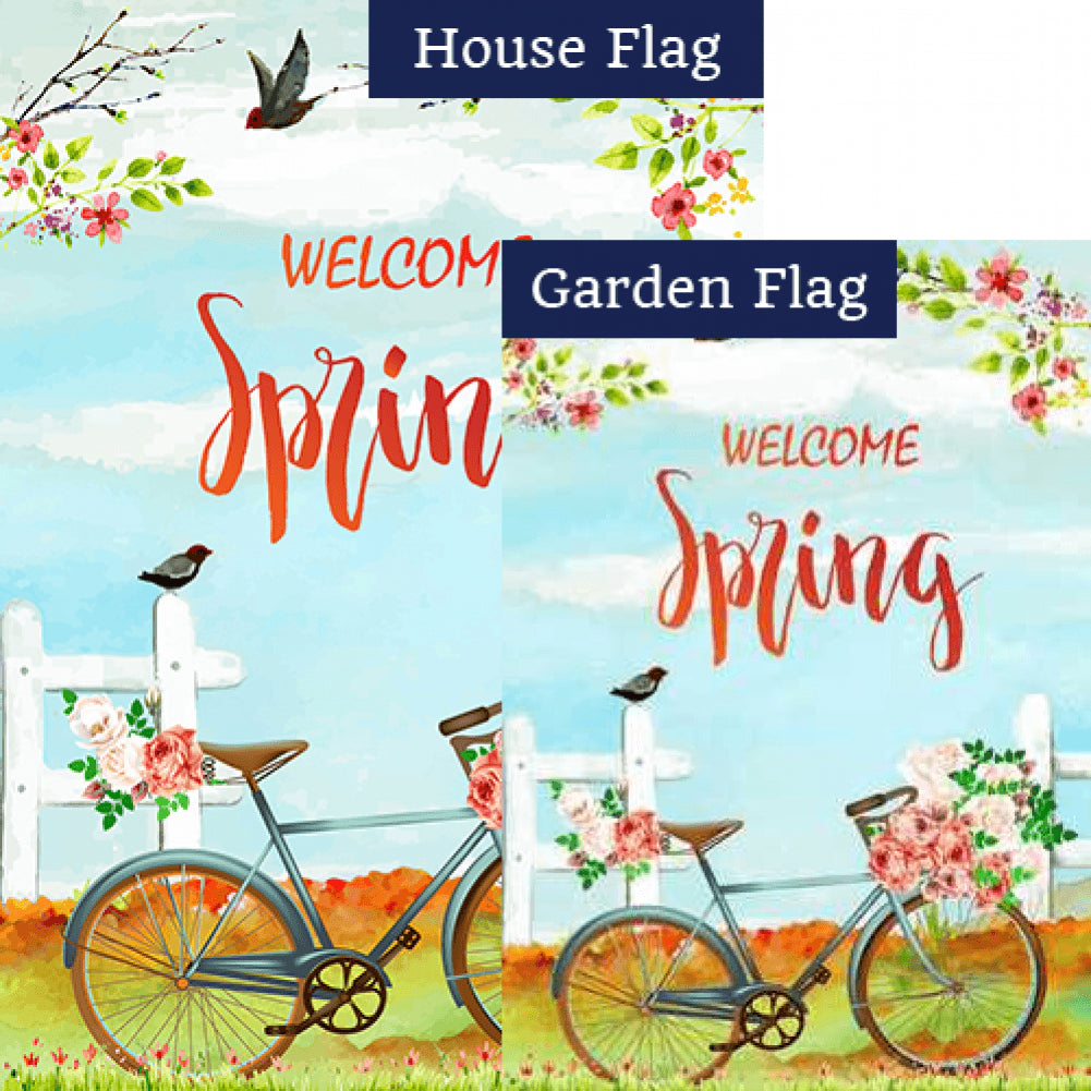 Vintage Spring Bicycle Flags Set (2 Pieces)