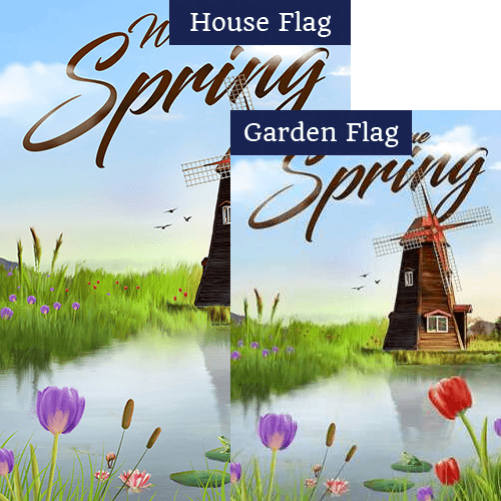 Windmills and Tulips Flags Set (2 Pieces)