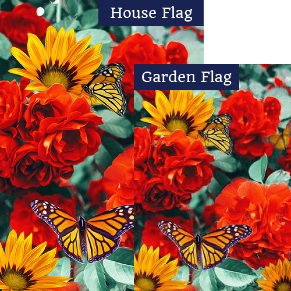 Monarch Butterflies Flags Set (2 Pieces)