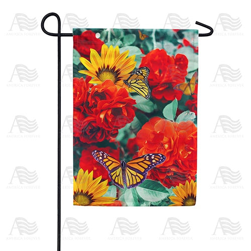 Monarch Butterflies Double Sided Garden Flag