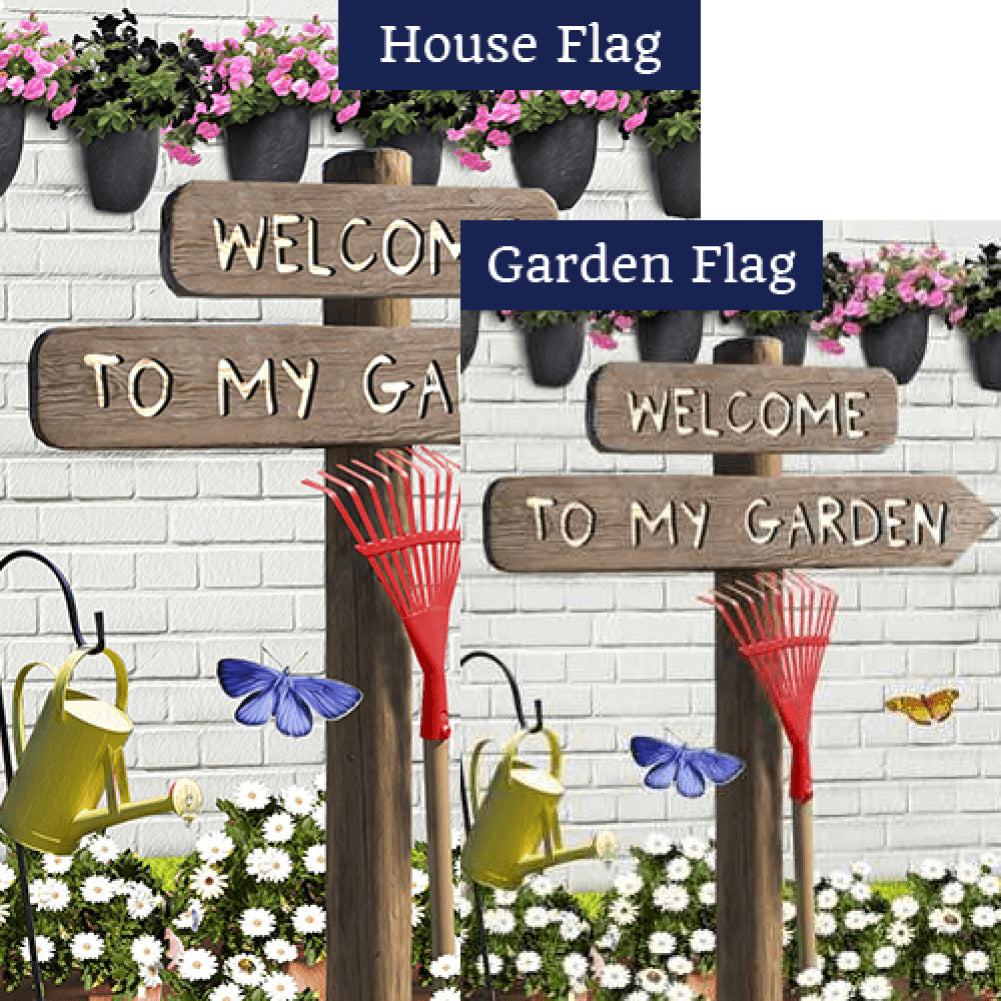This Way To My Garden Flags Set (2 Pieces)