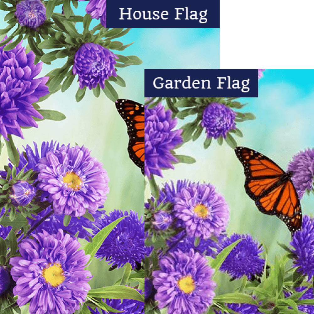 Asters And Monarch Flags Set (2 Pieces)
