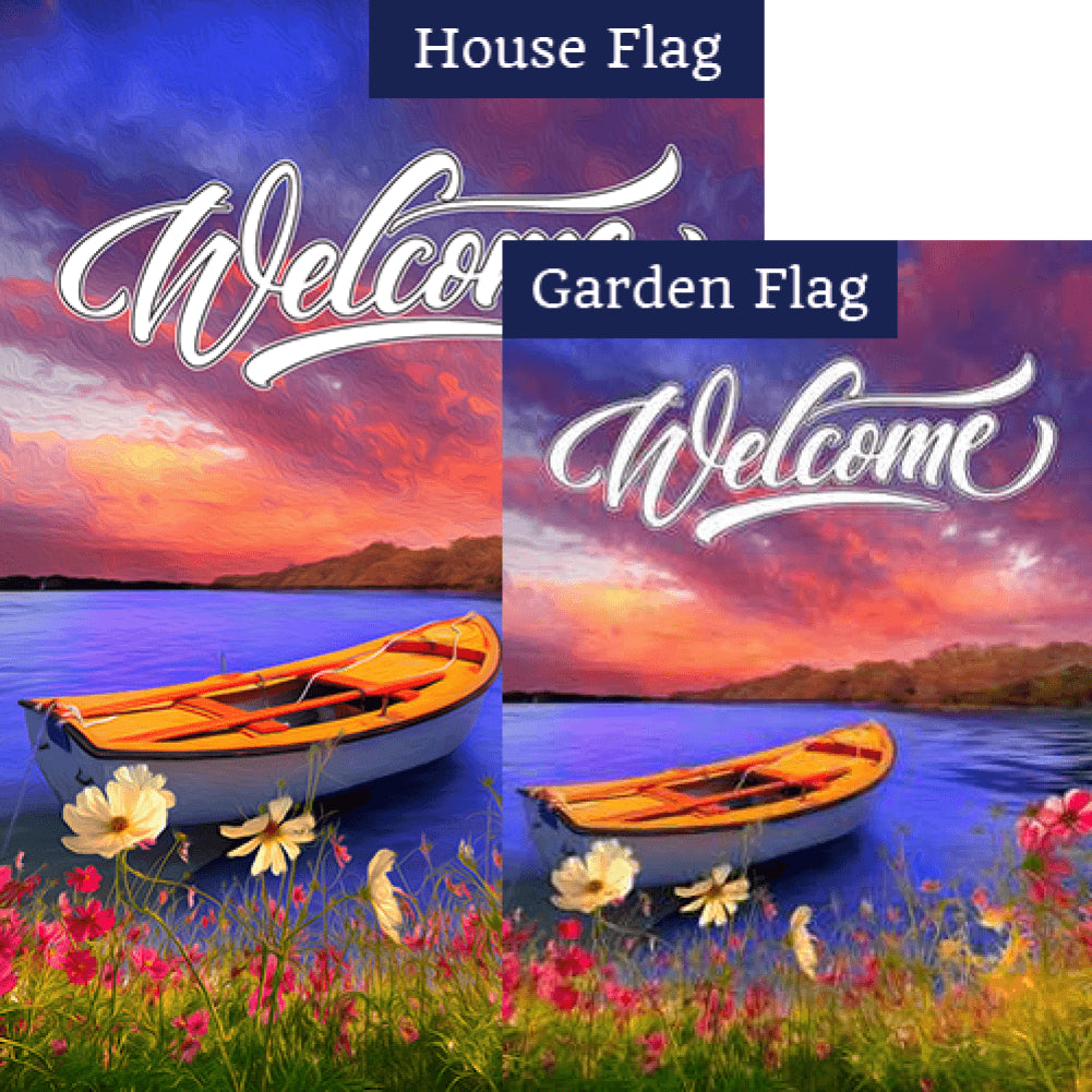 Tranquility Lake Flags Set (2 Pieces)