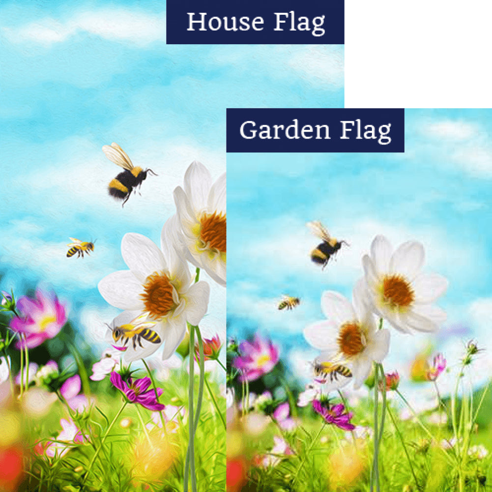 """Bee""utiful Day Flags Set (2 Pieces)"