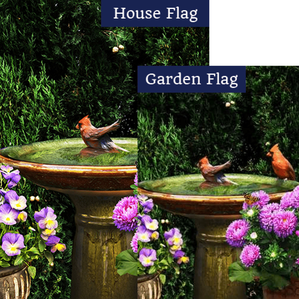 Cardinal Splash Flags Set (2 Pieces)