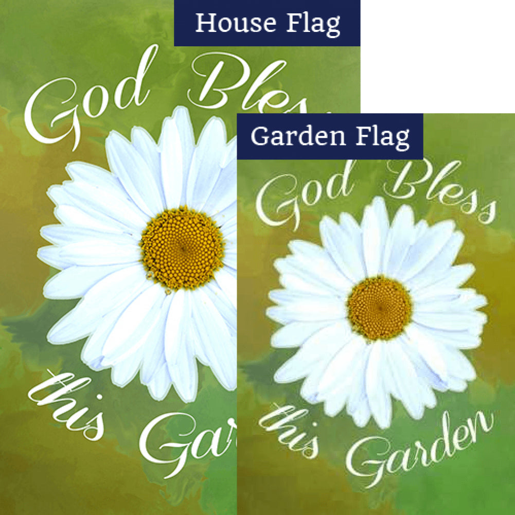 God Bless This Garden Flags Set (2 Pieces)