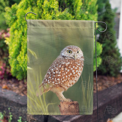 Burrowing Owl Double Sided Garden Flag
