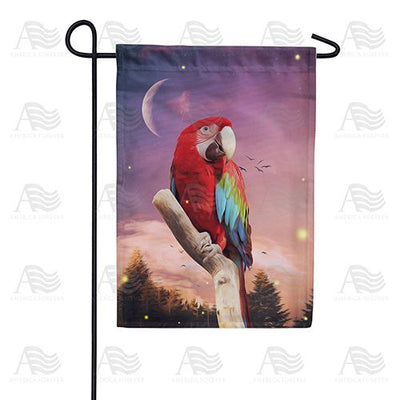 Moonlight Macaw Double Sided Garden Flag