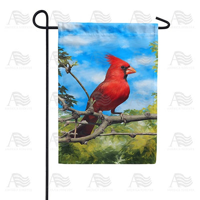 Handsome Mr. Cardinal Double Sided Garden Flag