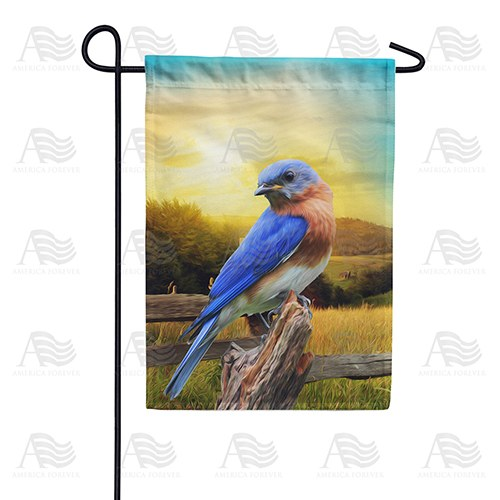 Bluebird In The Country Double Sided Garden Flag