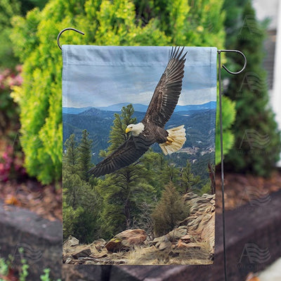 Eagle In Flight Double Sided Garden Flag