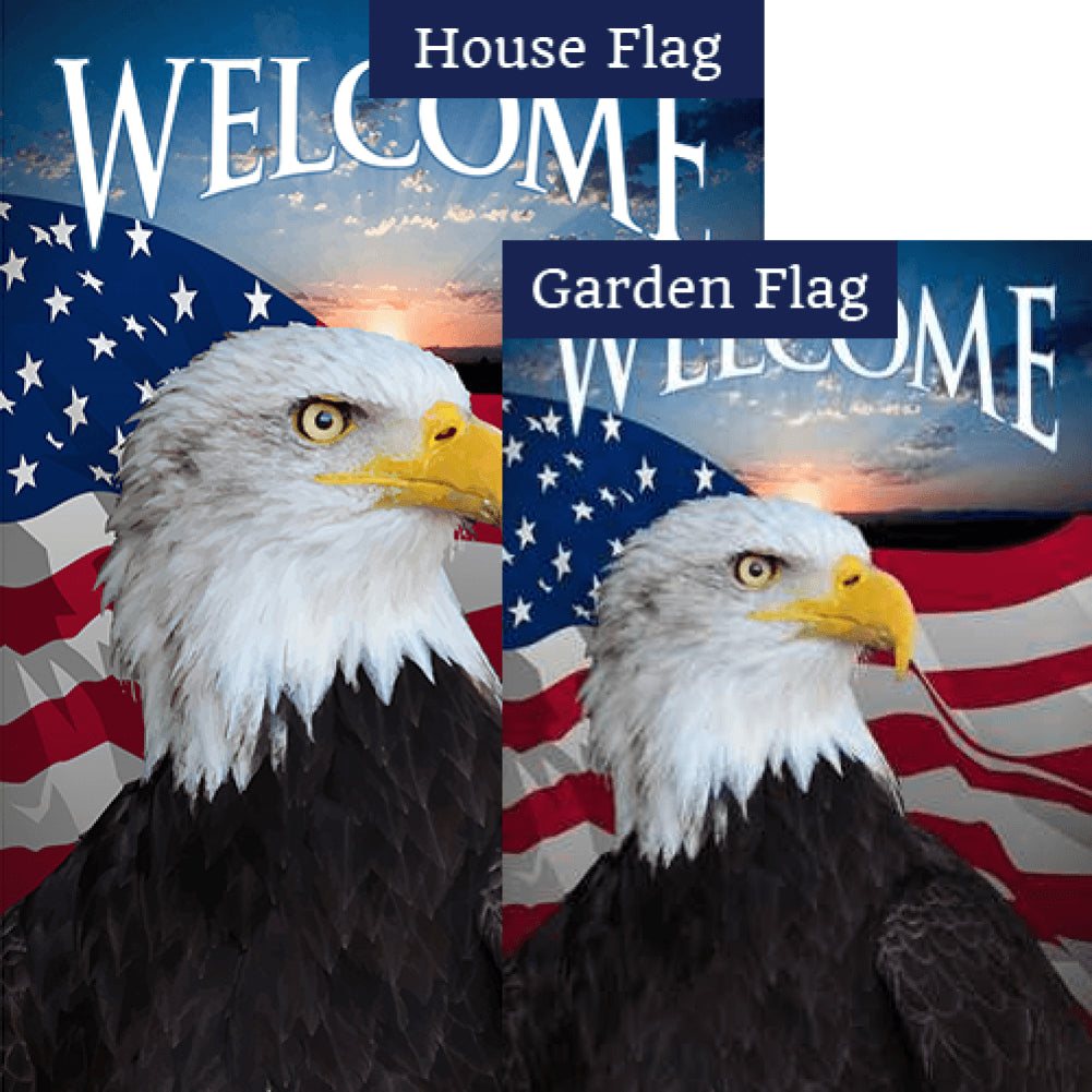Face Of Freedom Double Sided Flags Set (2 Pieces)