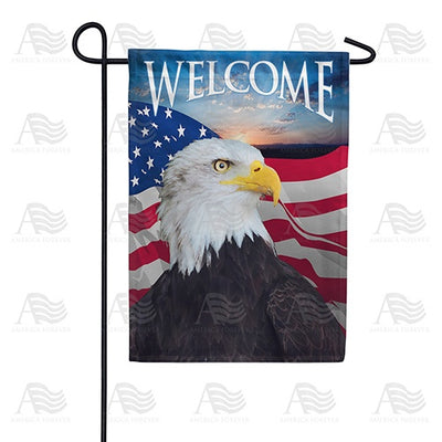 Face Of Freedom Double Sided Garden Flag
