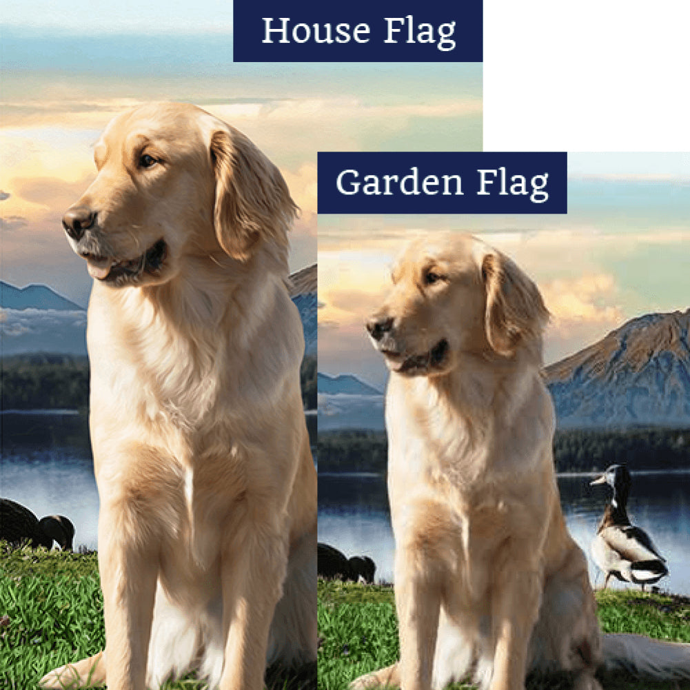 Mountain Lake Solitude Double Sided Flags Set (2 Pieces)