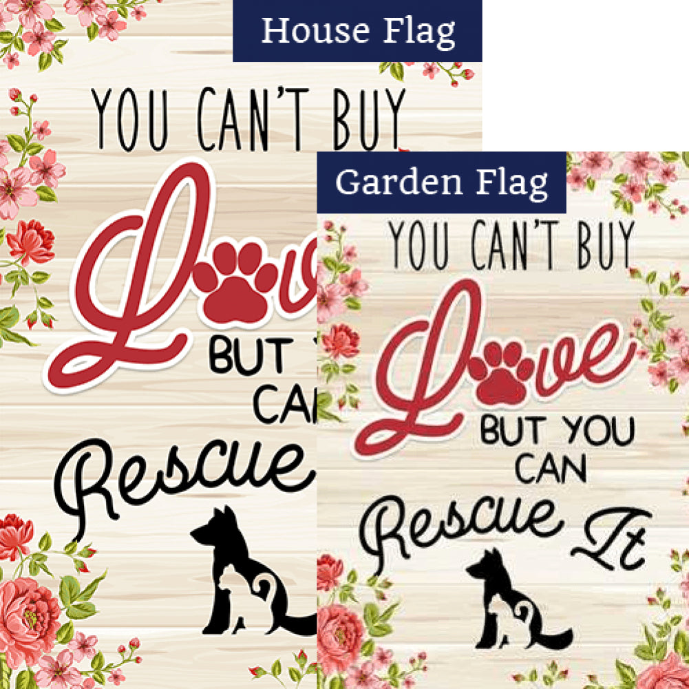 America Forever Rescue A Pet Double Sided Flags Set 2 Pieces Flagsr Flagsrus Org