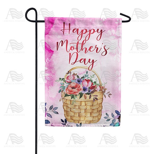 Flower Basket For Mother Double Sided Garden Flag