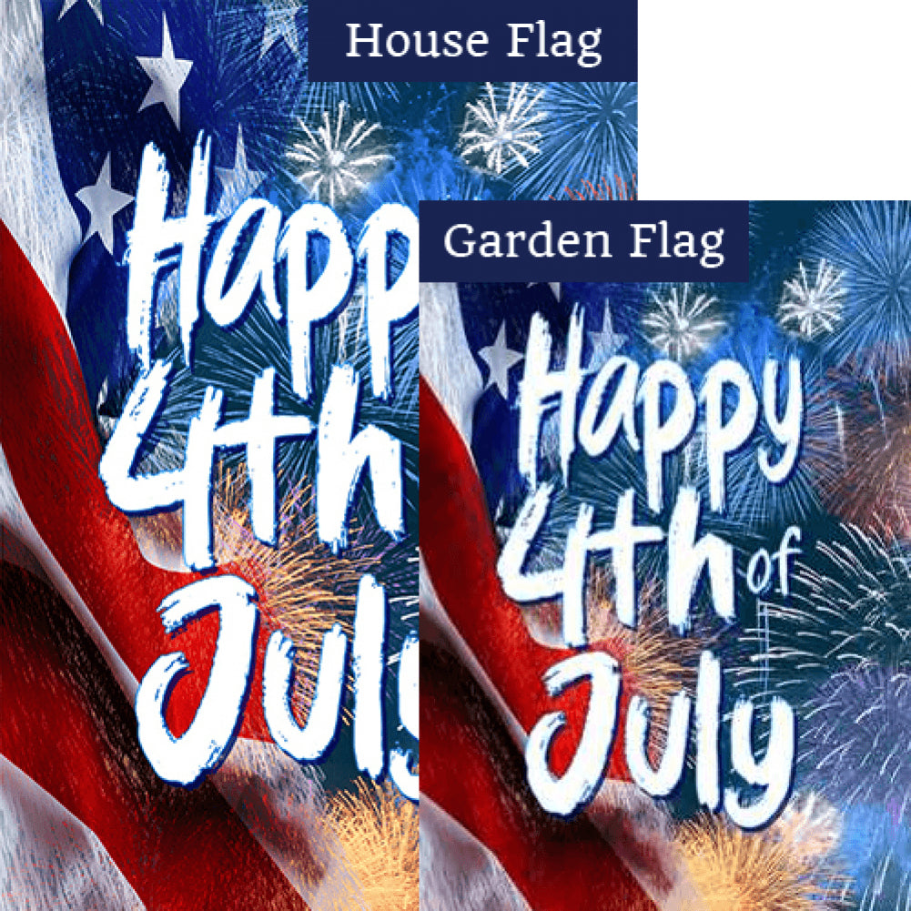 Happy 4th of July Flags Set (2 Pieces)