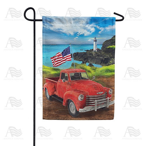 American Truck Double Sided Garden Flag