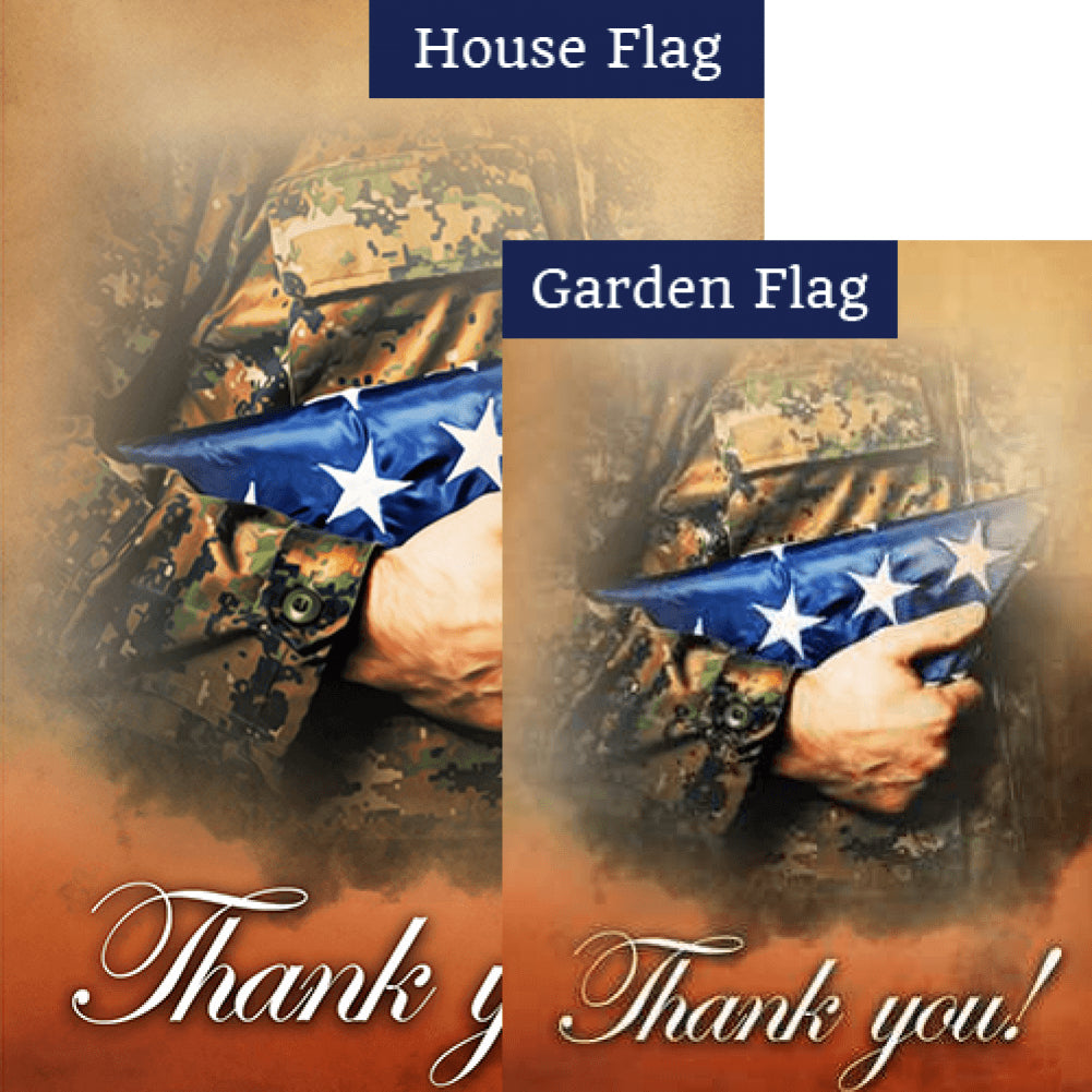 Thank You Military Flags Set (2 Pieces)