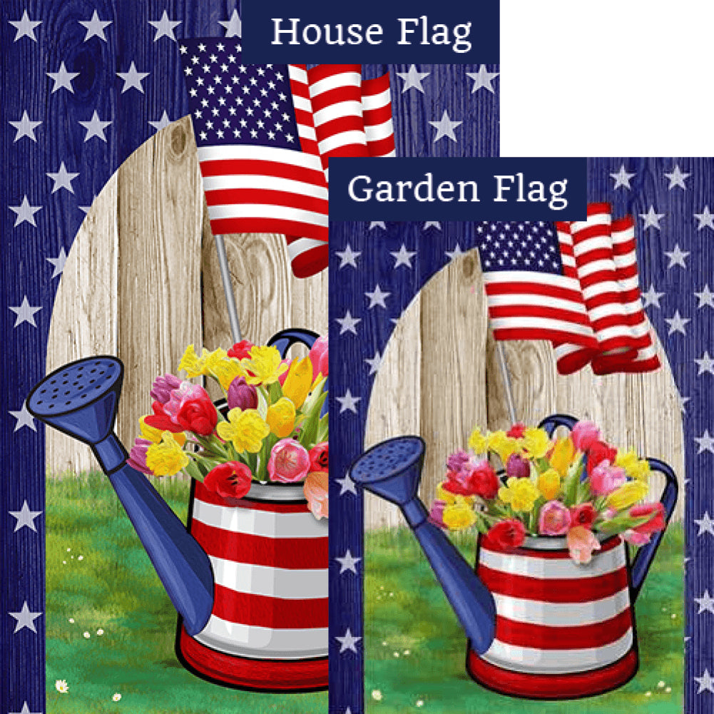 AmeriCAN Flowers Flags Set (2 Pieces)