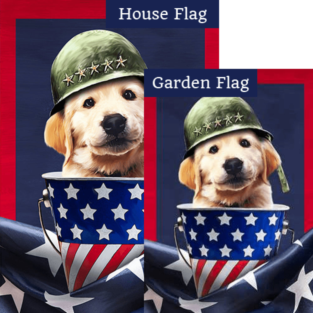 Patriotic Labrador Pride Flags Set (2 Pieces)