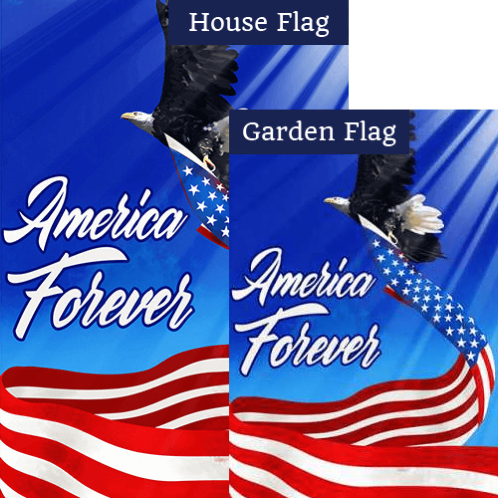 American Patriotic Eagle Flags Set (2 Pieces)