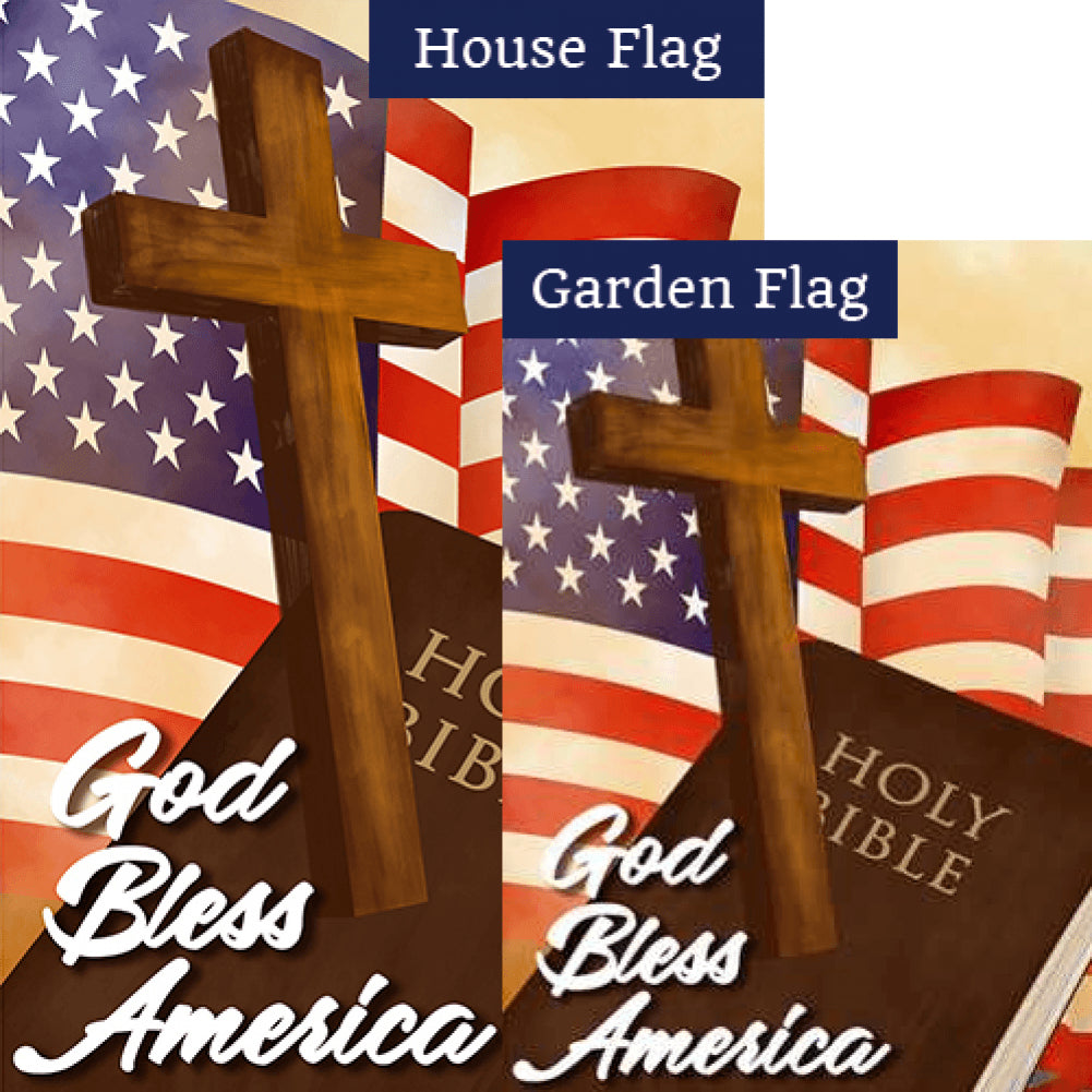God Bless America Patriotic Flags Set (2 Pieces)