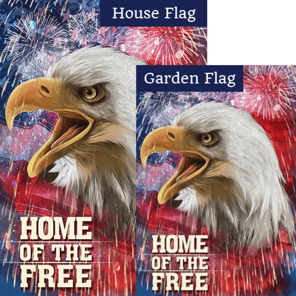 Home of the Free Patriotic Flags Set (2 Pieces)