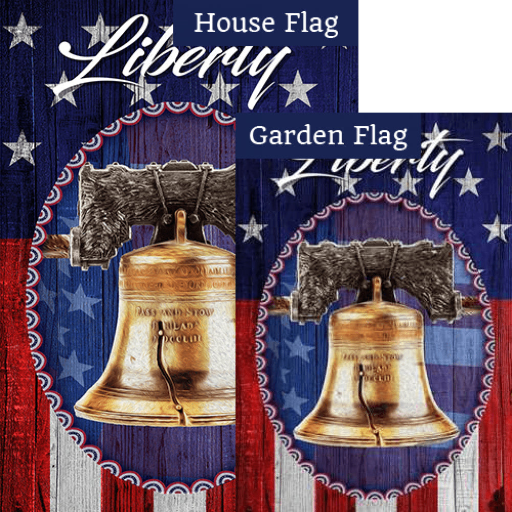 The Liberty Bell Flags Set (2 Pieces)