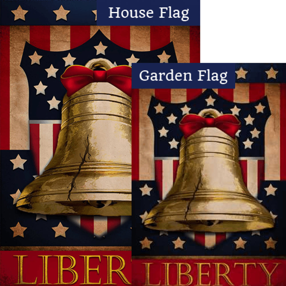 Liberty Bell Flags Set (2 Pieces)