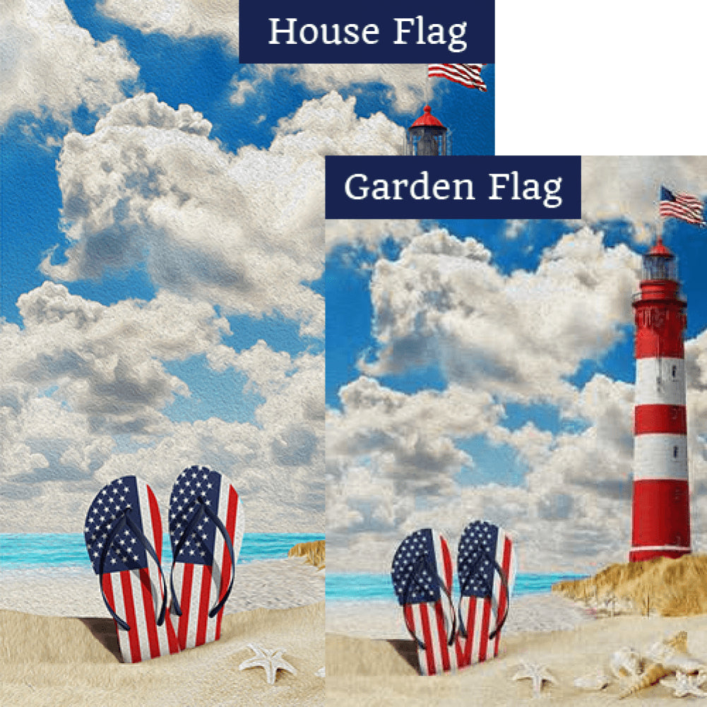American Summer Flags Set (2 Pieces)