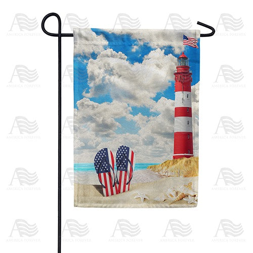 American Summer Double Sided Garden Flag