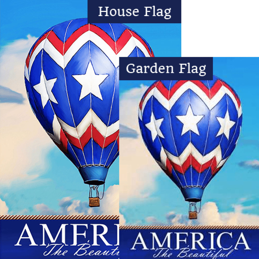 America the Beautiful Balloon Flags Set (2 Pieces)