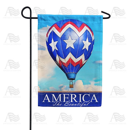 America the Beautiful Balloon Double Sided Garden Flag