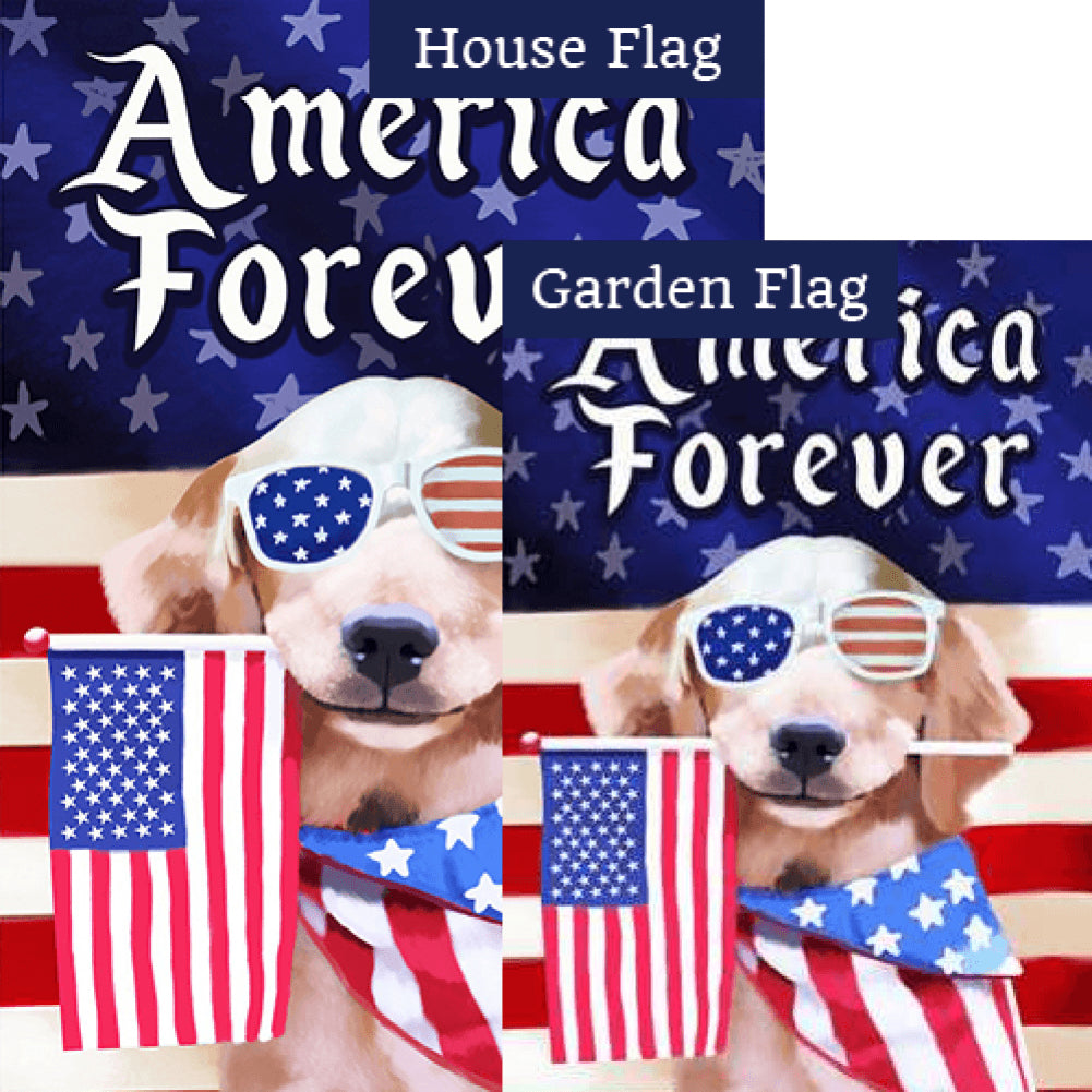 America Forever Puppy Flags Set (2 Pieces)