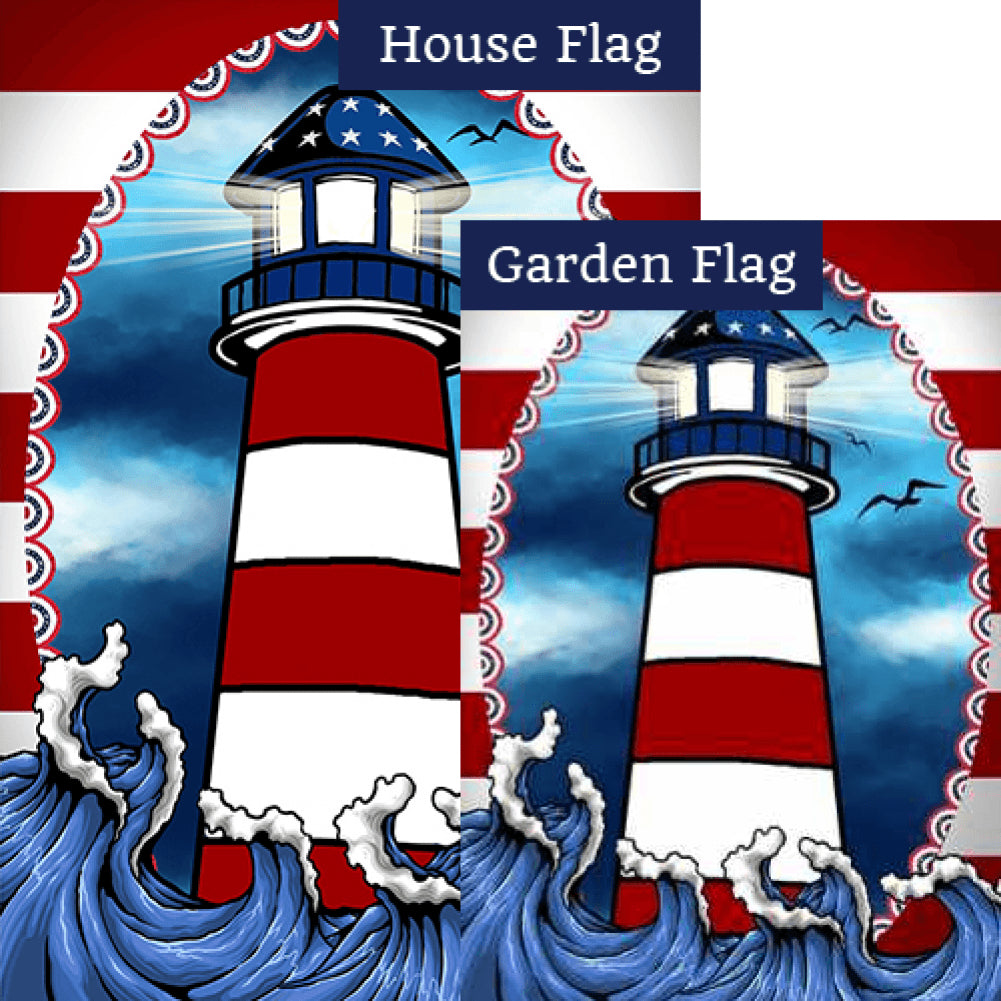 American Lighthouse Flags Set (2 Pieces)