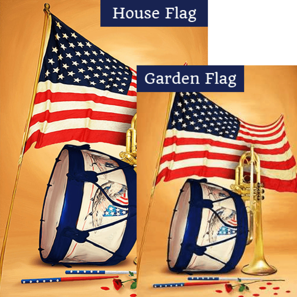 Patroitic Band Flags Set (2 Pieces)