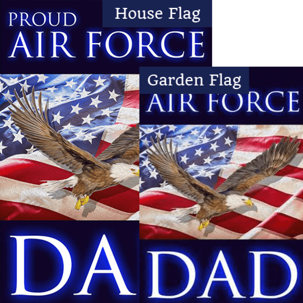 Proud Air Force Dad Flags Set (2 Pieces)