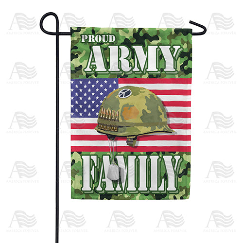 Proud Army Family Double Sided Garden Flag