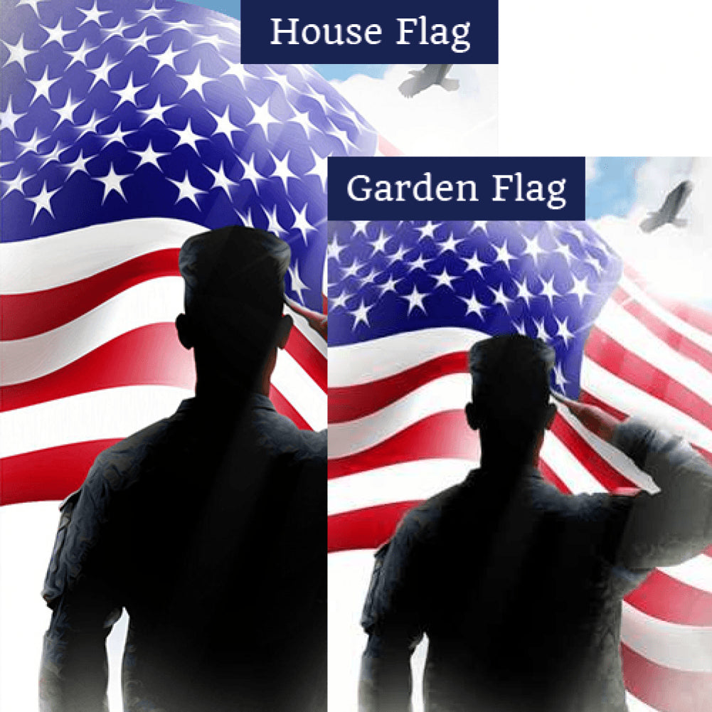 Veterans Salute Flags Set (2 Pieces)