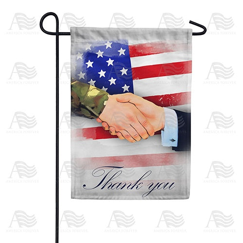 America Thanks You Double Sided Garden Flag