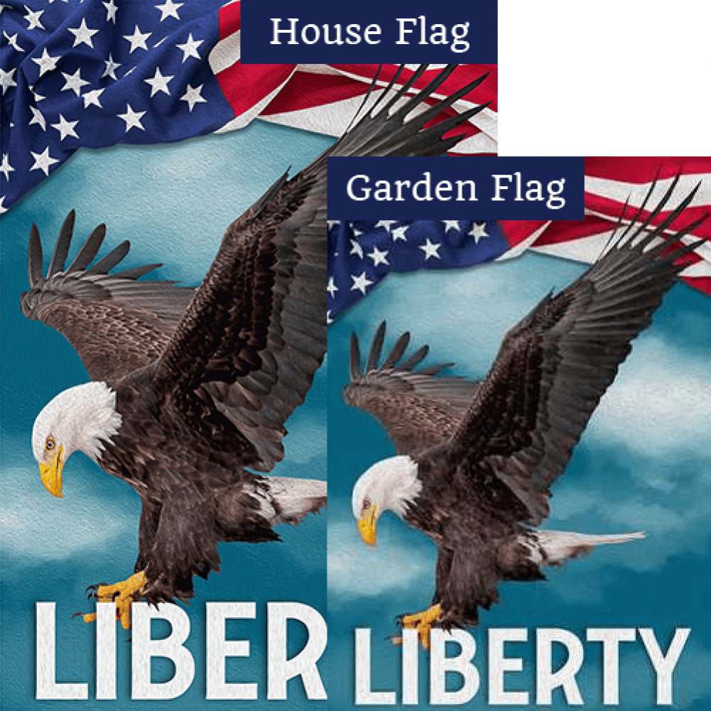Patriotic Welcome Liberty Flags Set (2 Pieces)