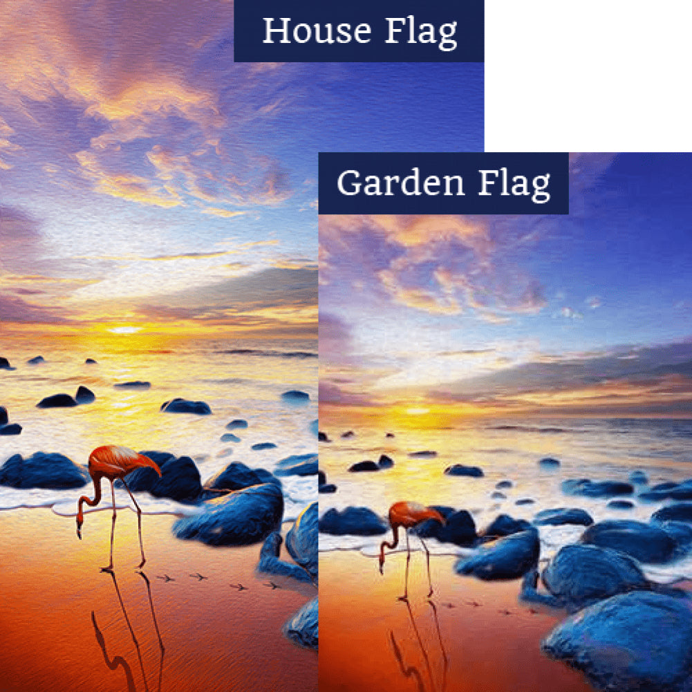 Tranquil Sunset Flags Set (2 Pieces)