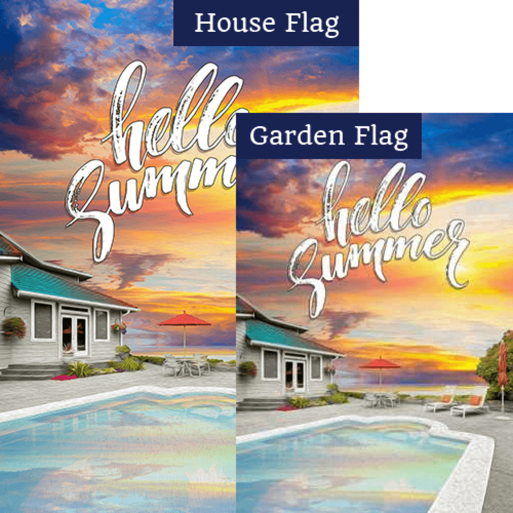 Summer Retreat Flags Set (2 Pieces)