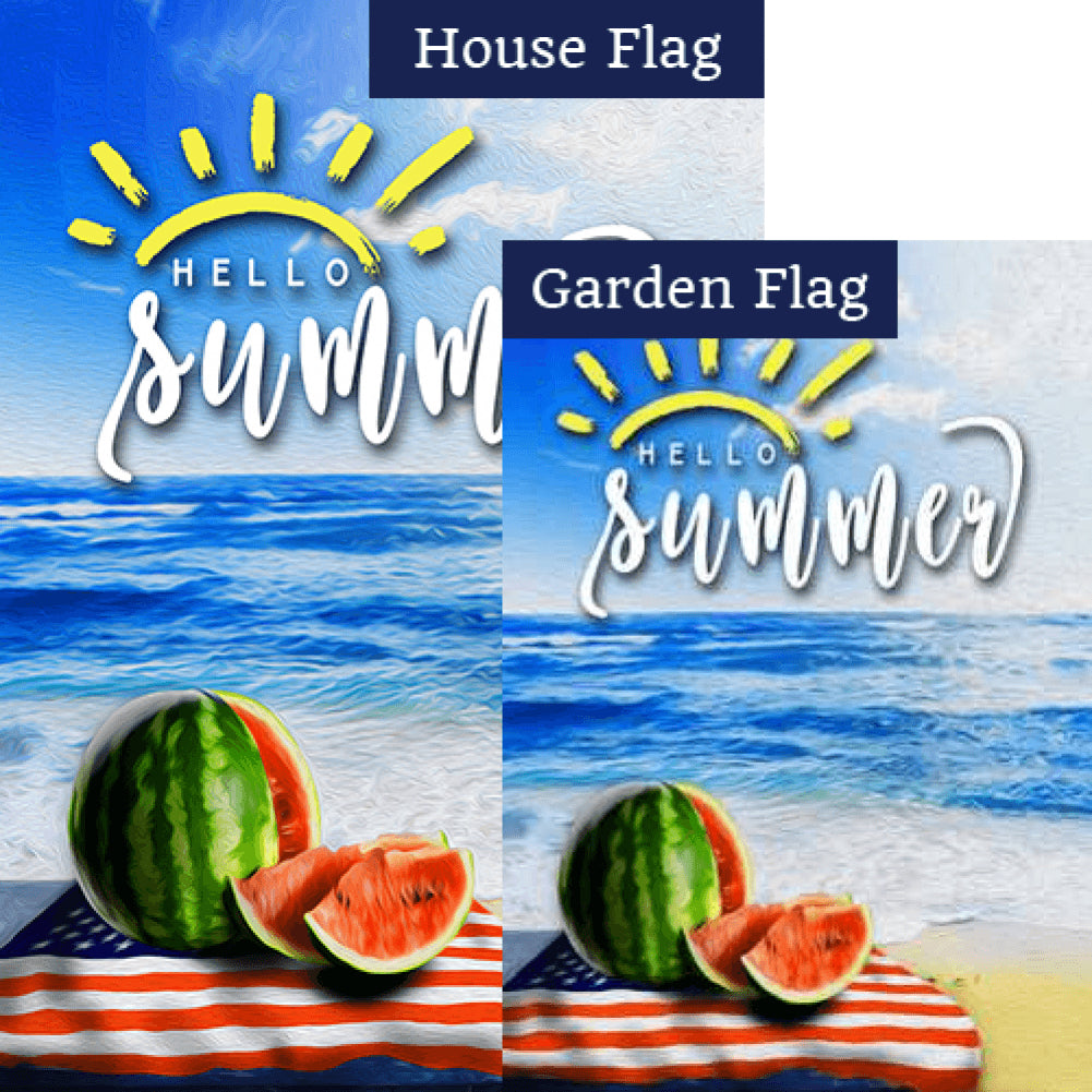 American Summer Fruit Flags Set (2 Pieces)